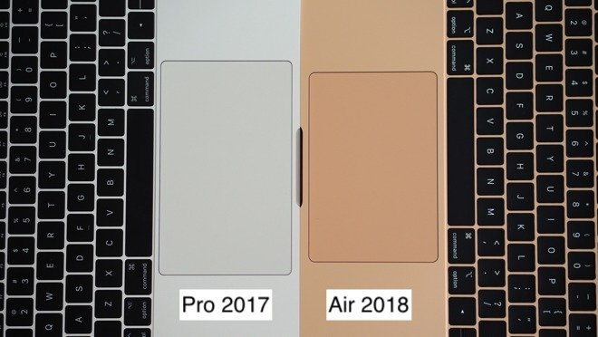 So sánh macbook air 2018 với air và pro 2017 đọ sức với nhau