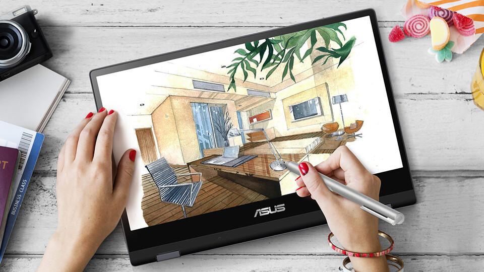 VivoBook Flip TP412FA: Laptop dưới 14 triệu xoay gập – cảm ứng mượt mà, SSD 256GB tốc độ cao (ảnh 4)