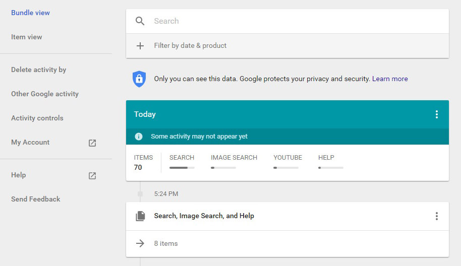 How to Access Your Google Usage History + Erase It - Hongkiat